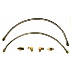 Wilwood 220-6419 Flexline Front Brake Line Kit, 90-99 Civic w/ FDL