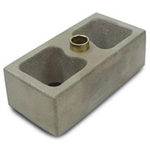 AFCO 20247 Aluminum Leaf Spring Lowering Block, 1-1/2 Inch