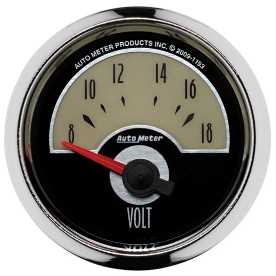 Auto Meter 1193 Cruiser Air-Core Voltmeter Gauge, 2-1/16 Inch