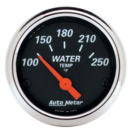 auto meter 1436 designer black air core water temperature gauge ebay. Black Bedroom Furniture Sets. Home Design Ideas