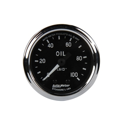 Auto Meter 201006 Cobra Oil Pressure Gauge, Mechanical, 2 Inch