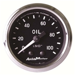 Auto Meter 201006 Cobra Mechanical Oil Pressure Gauge, 2-1/16 Inch