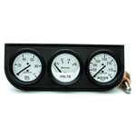 Auto Meter 2327 Auto Gage Mechanical 3 Gauge Console, Oil/Water/Volt