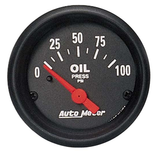 Auto Meter 2634 Z-Series Air-Core Oil Pressure Gauge, 100 PSI, 2-1/16