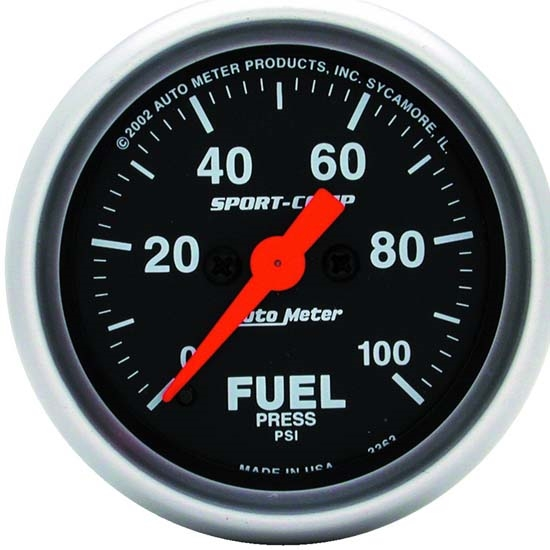 Auto Meter 3363 Sport-Comp Digital Stepper Motor Fuel Pressure Gauge