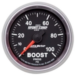 Auto Meter 3606 Sport-Comp II Mechanical Boost Gauge, 100 PSI, 2-1/16