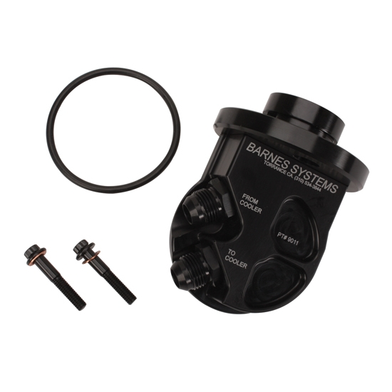 Sbc Oil Cooler : Barnes systems small block chevy oil cooler adapter