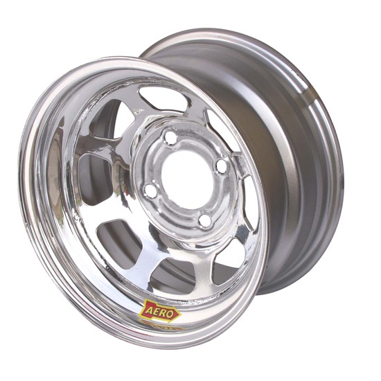Aero 55-204240 55 Series 15x10 Wheel, 4-lug, 4 on 4-1/4 BP, 4 Inch BS