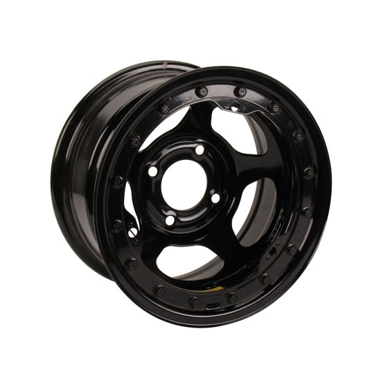 Bassett 38ST45L 13x8 Inertia Black Beadlock Wheel, 4 on 4.5