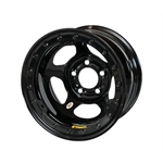 Bassett 58AF3WL 15X8 Inertia 5on4.5 3 BS Wissota Black Beadlock Wheel