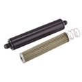 Black 10 Inch Aluminum High Flow Fuel Filter, Stainless Element