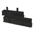 Speedway Chevy Tall Valve Covers w/ Breather Tubes, Black Steel