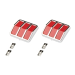 Pedal Car Parts, AMF Mustang Chrome Tail Light with Clips