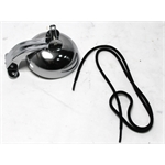 Garage Sale - Pedal Car Parts, Flat Face Bell Assembly with Cord, Chrome