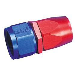 Aeroquip Straight Full Flow Swivel Hose End Fitting, Red/Blue, -8 AN