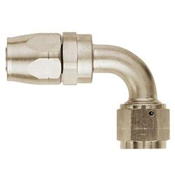 Aeroquip FCE4032 Nickel 90 Degree Hose End Coupler Fitting, -6 AN