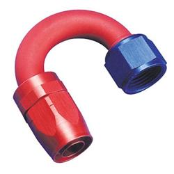 Aeroquip FBM4063 Hose End Coupler Fitting, 180 Degree, Blue/Red, -8 AN