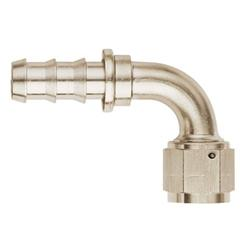 Aeroquip FCE1532 Nickel 90 Degree Push-On Socketless Fitting, -6 AN