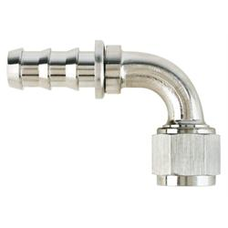 Aeroquip FCE1534 Nickel 90 Deg Push-On Hose Socketless Fitting, -10 AN
