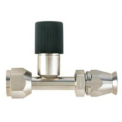 Straight Nickel Plated AC Fitting, O-Ring Pilot w/Port, -6 AN