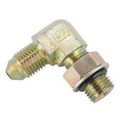 90 Degree AN3 to 3/8 Inch-24 Brake Adapter Fitting