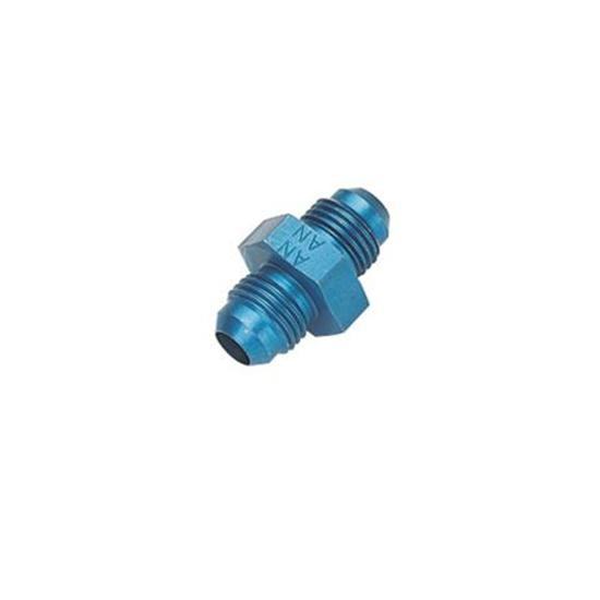 Aluminum Flare Union Adapter Fitting, Blue, -4 AN