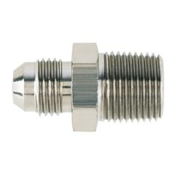 Nickel Straight to Aluminum Pipe Adapter Fitting -6 AN to 3/8 Inch NPT