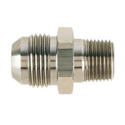 Nickel Straight to Aluminum Pipe Adapter Fitting, -12 AN to 1/2 In NPT