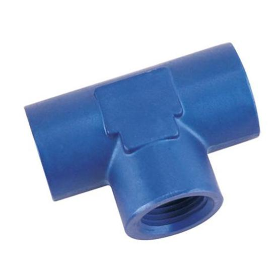 Aluminum Female Pipe Tee, 1/4 Inch