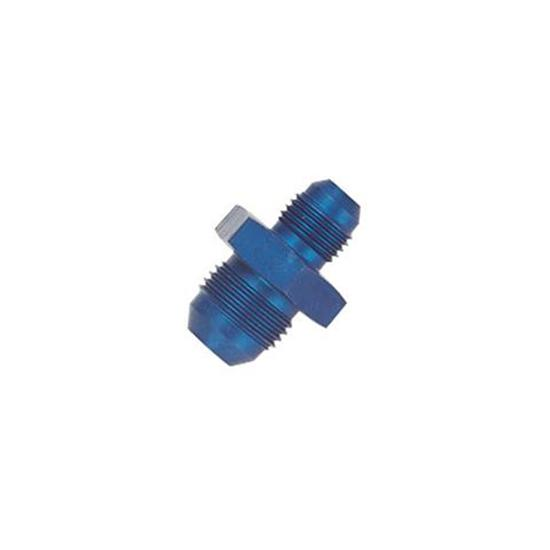 Aluminum Flare Reducer Adapter, Blue, -12 AN to -16 AN
