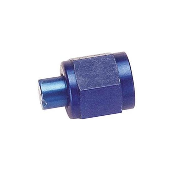 Aluminum Flare Fitting Cap, Blue, -3 AN