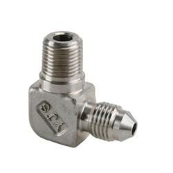 Stainless Steel 90 Degree AN3 to 1/8 Inch NPT Adapter Fitting