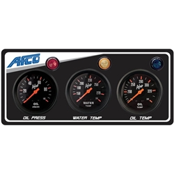 AFCO 85123B 3-Gauge Panel w/ Oil Press, Water Temp, Oil Temp
