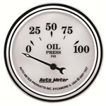 Auto Meter 1227 Old-Tyme White II Air-Core Oil Pressure Gauge