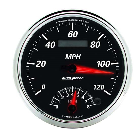 Auto Meter 1291 Designer Black II Air-Core Tach/Speedo Combo Gauge