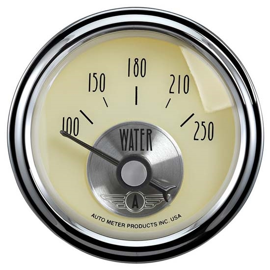 Auto Meter 2037 Prestige Antique Ivory Air-Core Water Temp Gauge