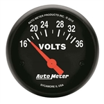 Auto Meter 2651 Z-Series Air-Core Voltmeter Gauge, 2-1/16 Inch
