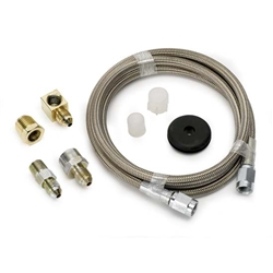 Auto Meter 3235 Stainless Line Kit for Pressure Gauges, -3 AN, 4 FT