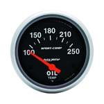 Auto Meter 3542 Sport-Comp Air-Core Oil Temperature Gauge, 2-5/8 Inch