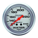 Auto Meter 4433 Ultra-Lite Mechanical Water Temperature Gauge, 2-5/8