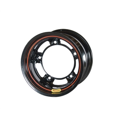 Bassett 505SR55 15X10.5 Wide-5 5.5 In Backspace Armor Edge Black Wheel