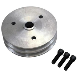 Moroso 64060 Chevy Short Pump Double Groove Crank Pulley