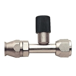 Straight Nickel Plated AC Fitting w/Port, -6 AN to -6 AN