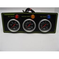 Garage Sale - Autometer Sport Comp 3 Gauge Oil Pressure, Oil Temperature & Water Temperature Panel