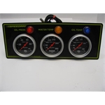 Garage Sale - Autometer Sport Comp 3 Gauge Oil Pressure, Oil Temperature & Water Temperature Panel