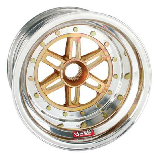 Sander 36 Spline Wheel, 13x8 Inch, 2 Inch Offset, No Beadlock
