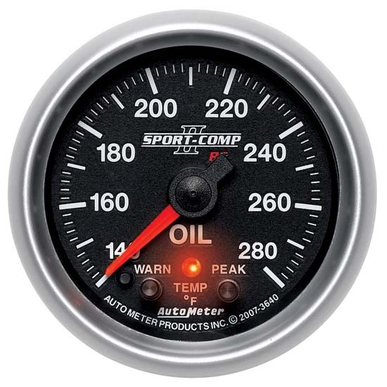 Auto Meter 3640 Sport-Comp II Digital Stepper Motor Oil Temp Gauge