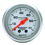 Auto Meter 4305 Ultra-Lite Mechanical Boost Gauge, 60 PSI, 2-1/16 Inch