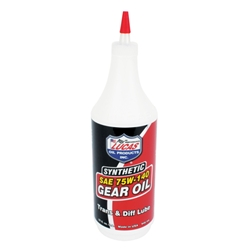 Lucas SAE 75W-140 Synthetic Racing Gear Oil, 1 Quart