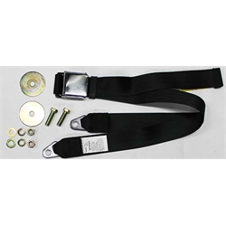 Dynacorn SBL-BK74 74 Inch Vintage Style Seat Belt, Camaro, Black, Each